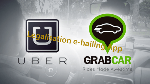 'e-hailing' model – Grab and Uber Set to be legalised in Malaysia by end of year.