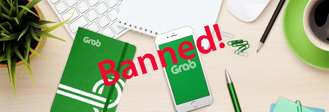 Grab Ban driver account